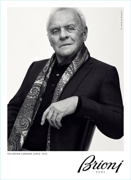 El gran Anthony Hopkins protagoniza la campaña del próximo otoño de Brioni
