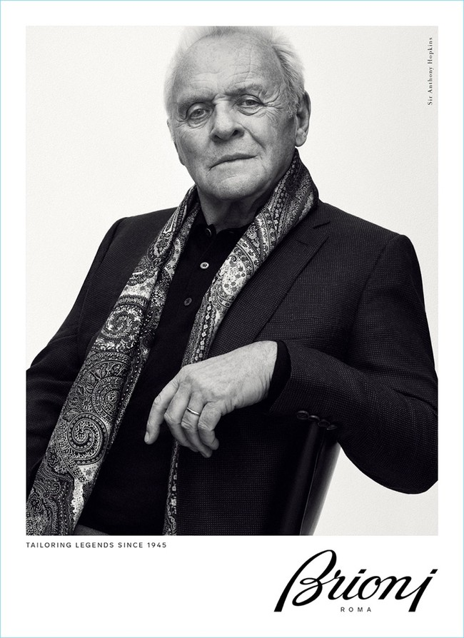 Brioni Fall Winter 2017 Campaign Sir Anthony Hopkins 001