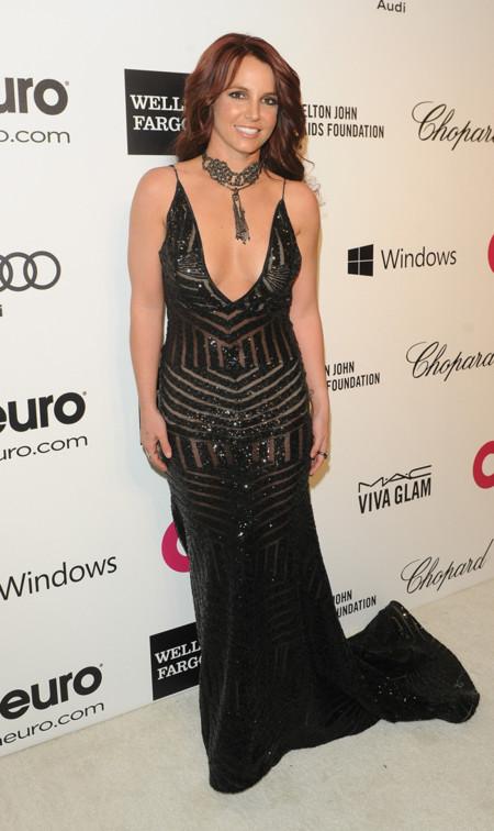 Britney Spears fiesta Elton John Oscar 2014