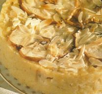 Tarta de arroz con peras
