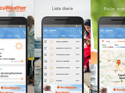 AccuWeather 4.0, estrena interfaz con Material Design