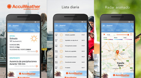 AccuWeather 4.0, estrena interfaz con Material Design