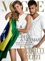 Mira cómo se acerca Neymar a Gisele Bündchen en la portada de Vogue