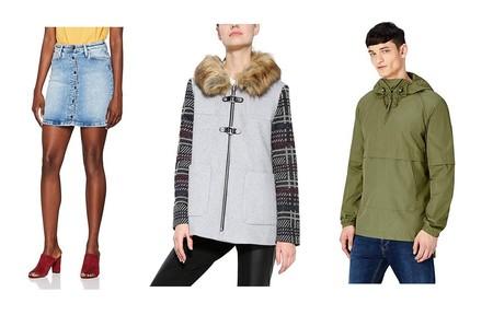 Chollos en tallas sueltas de pantalones, abrigos y faldas de marcas como Desigual, Lee, Pepe Jeans o find en Amazon