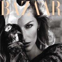 Gisele Bundchen y Kate Moss en dos portadas opuestas para Harper's Bazaar y Vogue