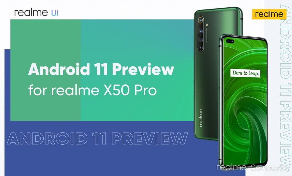Realme búsqueda clientes que prueben la beta de Android™ once en su Realme X50 Pro