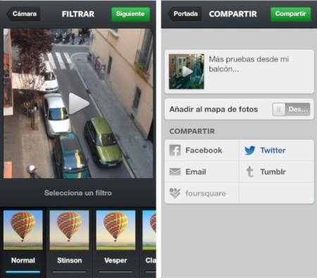 instagram filtros compartir