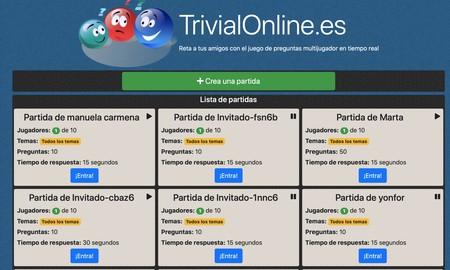 Trivial Online Partidas