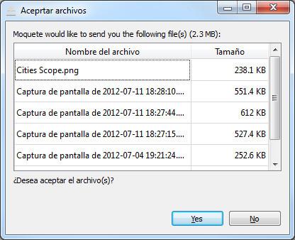 Enviando archivos con NitroShare