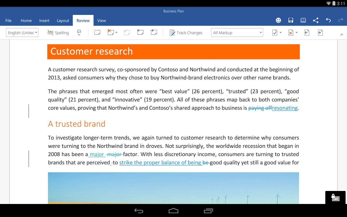 Foto de Word para tabletas Beta Preview (5/7)