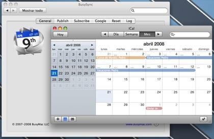 BusySync: sincroniza tus calendarios de iCal y Google