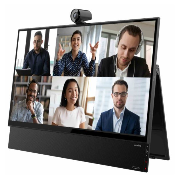 """New Line Flex.  Monitor 27"""" y Cámara 4K. Solución de Videoconferencia All In One Tecnología táctil capacitiva con lápiz activo Altavoces con Subwoofer"""