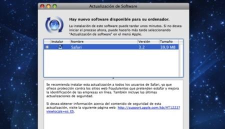 Actualización de Safari a la versión 3.2 con mejoras en seguridad
