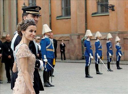 El look de la princesa Letizia en la boda real sueca