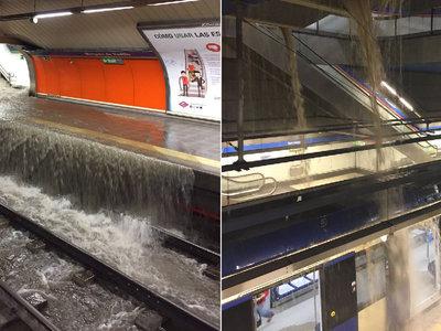 El día en que el Metro de Madrid se convirtió en un parque acuático gracias a las inundaciones