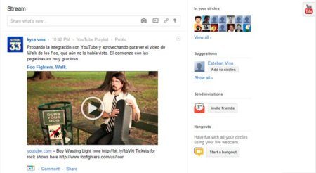 YouTube cobra importancia en Google+