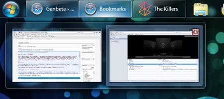 barra de Windows 7 en modo Vista