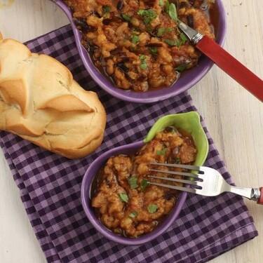 Ensalada marroquí de berenjenas, receta