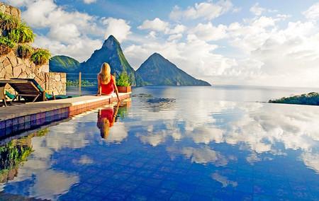 Jade Mountain Resort Santa Lucia Las Mejores Piscinas Infinitas Del Mundo