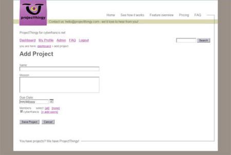 ProjectThingy.com, herramienta de colaboración online