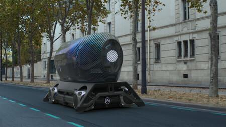 La idea de vehículo autónomo de Citroën es Skate, una plataforma con cápsulas intercambiables que van desde taxi hasta gimnasio móvil