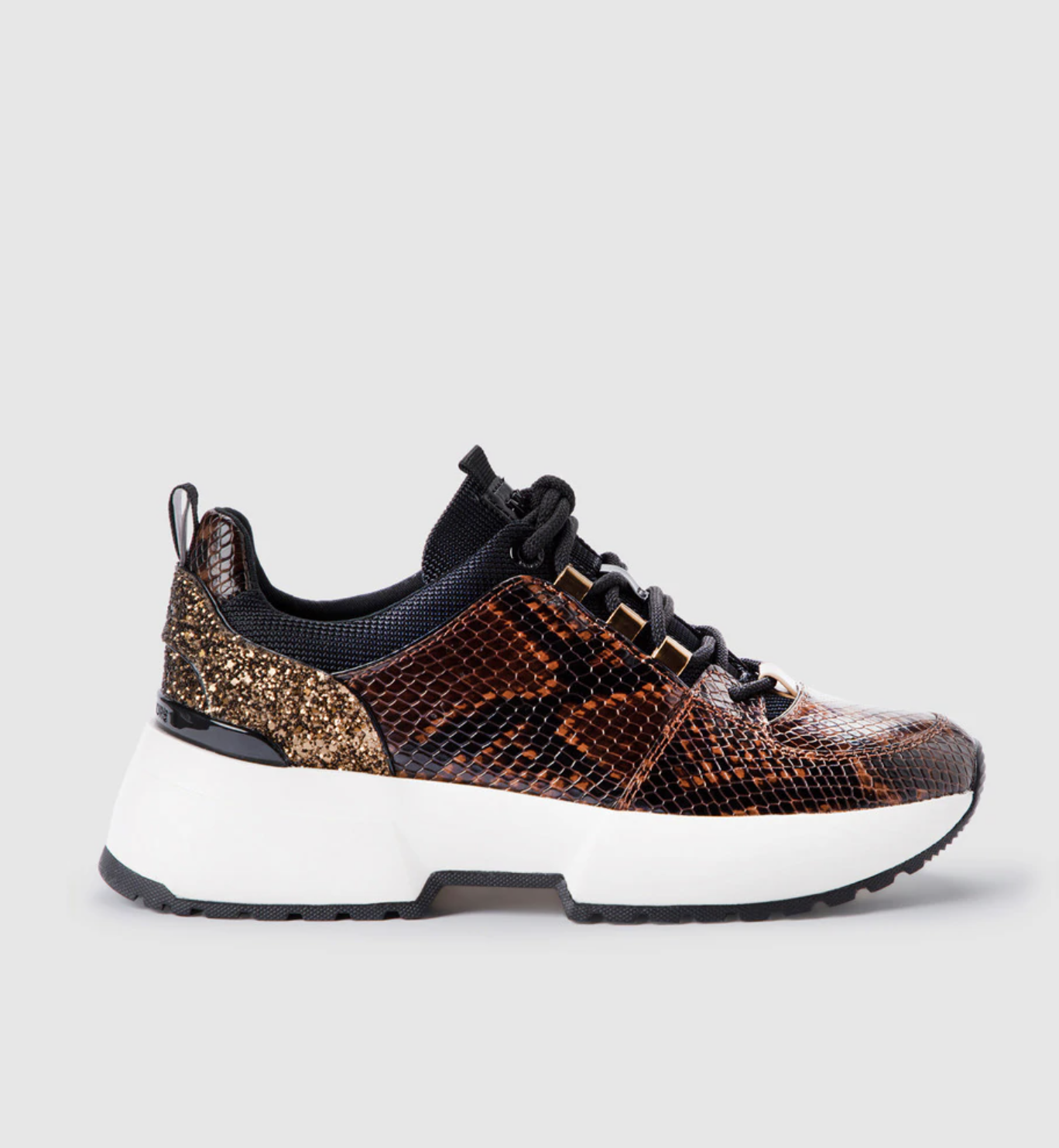 Zapatillas deportivas de mujer Michael Michael kors de piel marrón con cordones