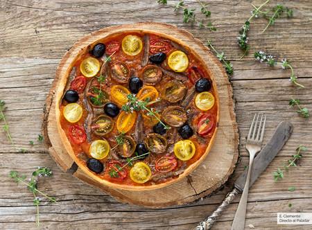 Tarta de tomates y anchoas: receta fácil pero resultona