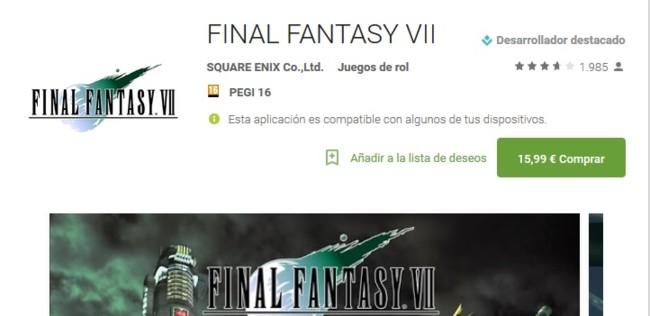 Final Fantasy Pago