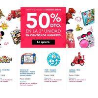 50% de descuento en la segunda unidad en más de 600 artículos en Toys 'r us