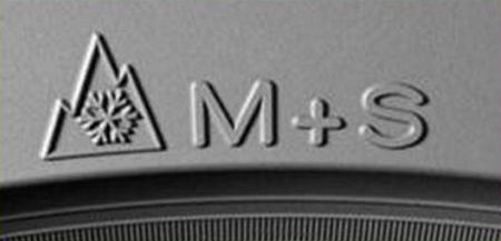 Neumáticos de invierno, símbolo