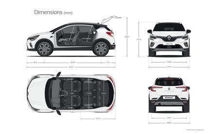 Renault Captur 2020: dimensiones exteriores y del habitáculo