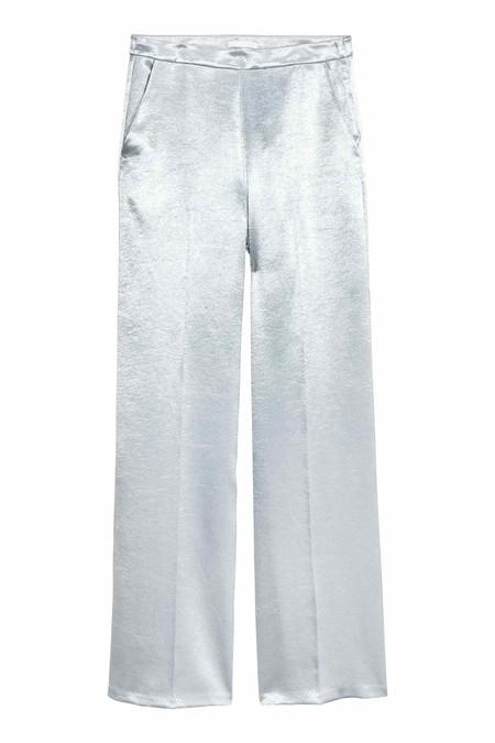Pantalones palazzo metalizados
