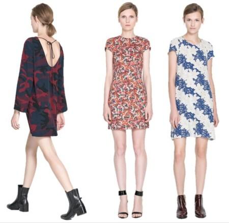 vestidos zara estampados otoño 2013