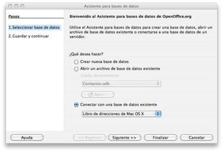 Pantallazo de OpenOffice