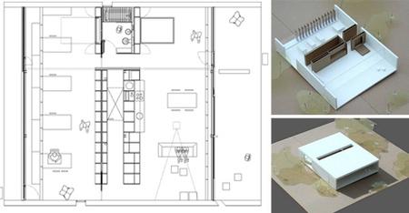 casa Marià - plano y maqueta