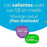 """Movistar contraataca: así es el nuevo plan de 399 pesos con """"internet ilimitado"""" del operador español en México"""