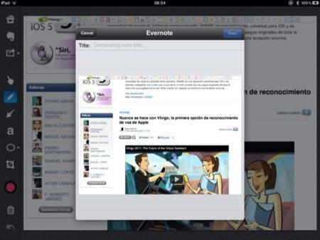 Compartiendo en Evernote nuestras imágenes editadas en Skitch
