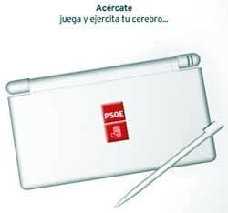 El PSOE usa la Nintendo DS como arma electoral