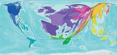 Mapa del turismo mundial