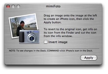 mimiFoto: Personaliza tu icono de iPhoto fácilmente