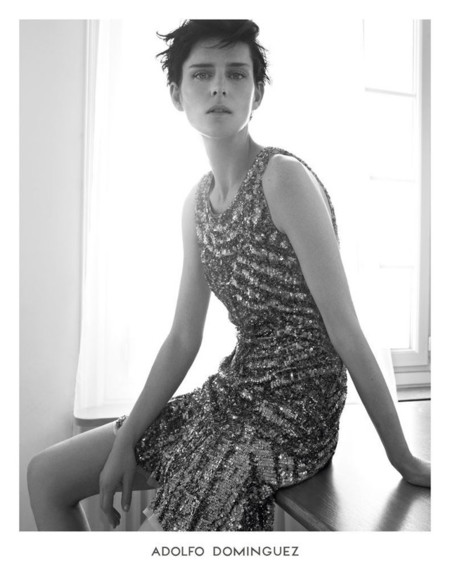 Campaña Adolfo Dominguez Primavera-Verano 2014 Stella Tennant por Karim Sadli