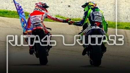 Marc Márquez y Valentino Rossi son vistos como nunca en 'Ruta 46-Ruta 93', el nuevo documental de DAZN sobre MotoGP