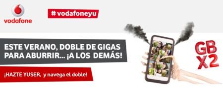 Vuelve la promoción con doble de gigas a prepago Vodafone durante el verano