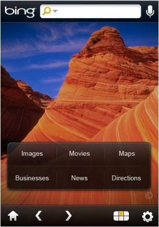 Microsoft lanza una aplicación de Bing para iPhone