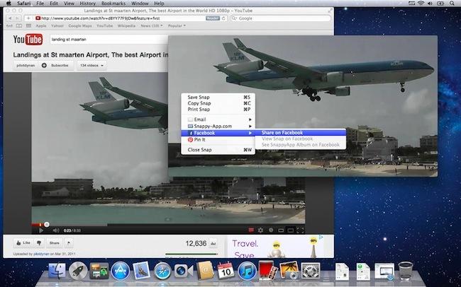SnappyApp compartir capturas pantalla redes sociales