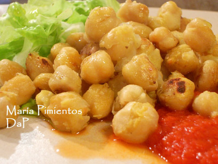 Garbanzos fritos. Receta