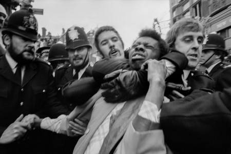 Race Riots In Lewisham Police Making An Arrest 1977