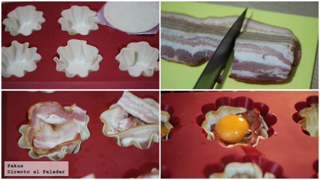 huevos bacon paso a paso