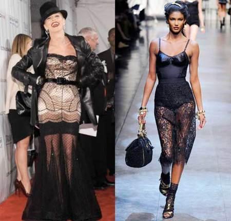 Faldas de encaje: como sí y como no llevarlas