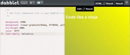 Dabblet, flexible entorno para poner a prueba tus diseños web